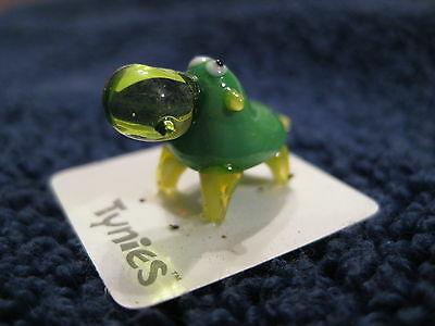 HIP GREEN Hippo animal TYNIES Tiny Glass Figure Figurines Collectibles 0038