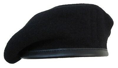 British Wool Beret Black - Royal Tank Regiment Army Cap Uniform All Sizes New