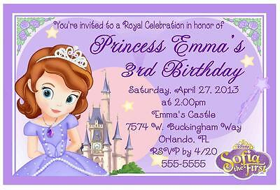 Princess Sofia The First Birthday Invitations Design