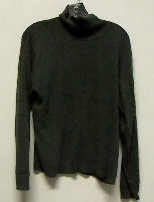 Vintage Charter Club Grey Silk/Cashmere Turtleneck Sweater Womens Size Large