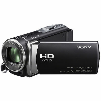 Sony HDR-CX190 High Definition Handycam 5.3 MP Camcorder(2012 Model) Brand New!