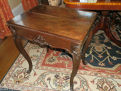 Rare Antique Rosewood Victorian  Games Table W/leather