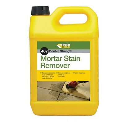 Everbuild 407 Mortar Stain Remover 5 Litre Brick Concrete Cleaner
