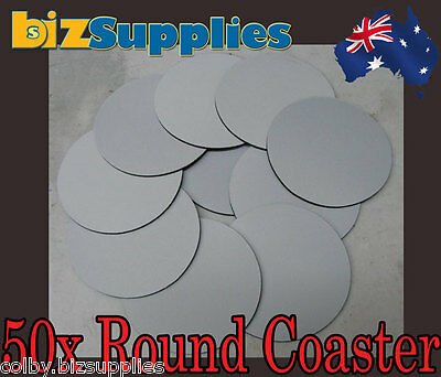 50x Blank Round Coaster for Dye Sublimation Heat Transfer Printing
