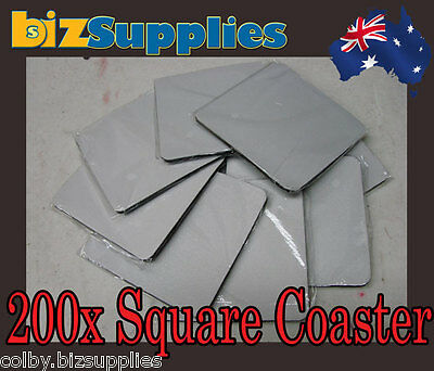 200x Blank Square Coaster for Dye Sublimation Heat Transfer Printing