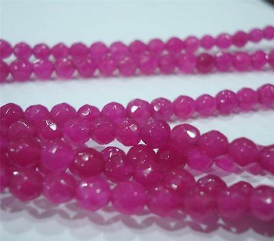 """4mm Faceted Brazilian Red Ruby Gems Loose Bead 15"""""""