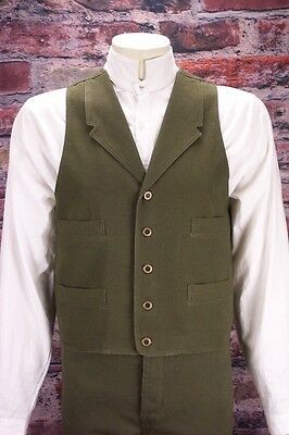 FRONTIER CLASSICS Olive Old West Frontier Vest SASS Victorian Steampunk
