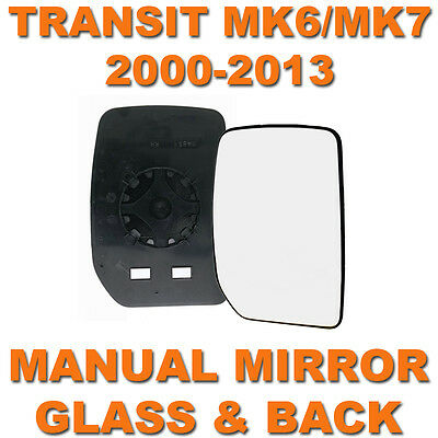 Transit Mk6/mk7 2000-2013 Manual Door Wing Mirror Glass Drivers Side Right O/s