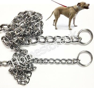 Quality Choke Choker Check Chain For Pet Puppy Dog Collar Metal Steel Chrome