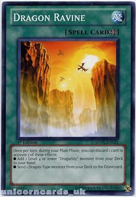 SDDL-EN021 Dragon Ravine 1st Edition Mint YuGiOh Card