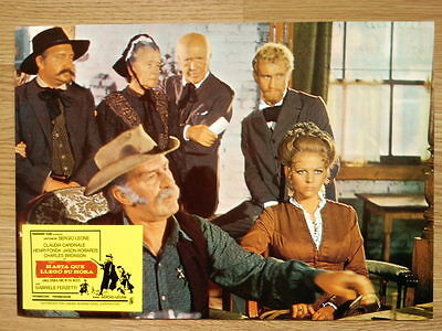 ONCE UPON A TIME IN THE WEST Sergio Leone - rare Spanish LC #4 CARDINALE / FONDA