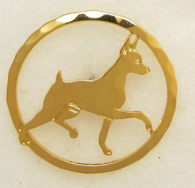 Miniature Pinscher Jewelry Small Gold Pin