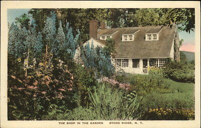 Stone Ridge NY The Shop In The Garden Albertype Hand Colored Postcard