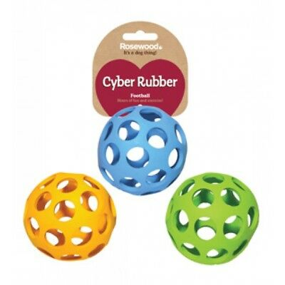 Lattice Cyber Football Ball Dog Puppy Toy Rubber Strong Interactive