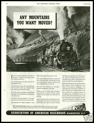1941 vintage ad for Association of American Railroads