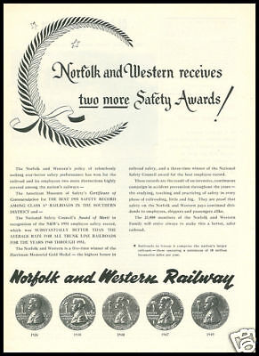 1952 vintage ad for Norfolk and Western railroads