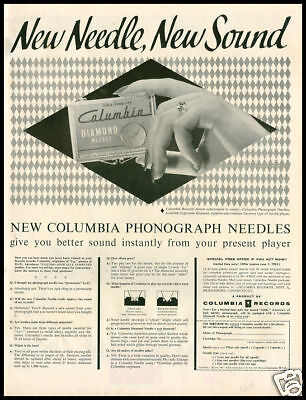 1955 vintage ad for Colombia Phonograph Needles