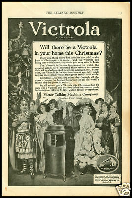 1920 ad for Victrola phonographs