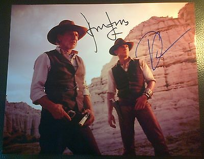 Harrison Ford & Daniel Craig Authentic Hand Signed Cowboys & Aliens Photo AFTAL