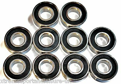 10 Pack 6202 2rs  15x35x11w  Deep Groove SEALED HIGH PERFORMANCE BEARINGS