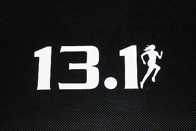 13.1 Half Marathon Female Decal Sticker Runner Logo Run *Brand NEW Design 3""