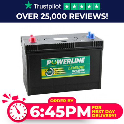 XV125MF Powerline  DC31 Deep Cycle Leisure Battery - / 12V / 4 Yr Warranty
