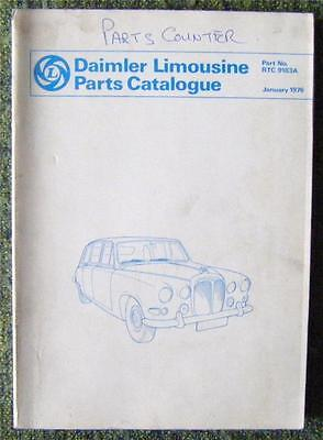 Daimler Limousine Parts Catalogue January 1976 Ref- Rtc9183A