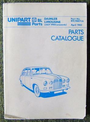 Daimler Limousine Parts Catalogue April 1982 Ref- Rtc9887Ca