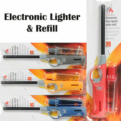 Electronic Gas Lighter & Refill Cookers Ovens Stoves BBQ Barbecues Nozzle Safety