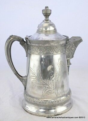 1880s Derby Stover Quadruple Silver Plate Victorian Server Ornate Edge Butterfly