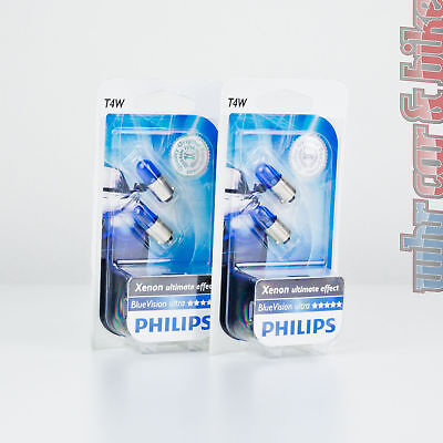 2 Paar Philips T4W 12V White Vision Ultra Standlicht weiß Xenon ultimate effect