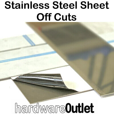 Brushed Stainless Steel 430 Sheet Plate Offcuts 1.8Kg's Pieces