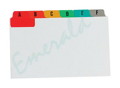 "Multi Coloured A-Z Index Record Guide Cards 6"" x 4"" 152 x 102 Same Day Dispatch"