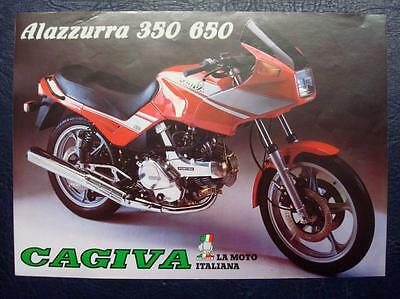 CAGIVA ALAZZURRA - Motorcycle Specifications Sheet - 1986 - Multilingual