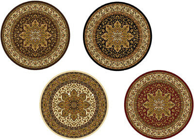 """TRADITIONAL ROUND 5X5 ORIENTAL AREA RUG PERSIAN CARPET - ACTUAL 5' 2"""" x 5' 2"""""""