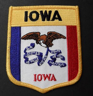 Iowa Embroidered Patch Us State Sew On Or Iron On 2.75 X 3 Inches