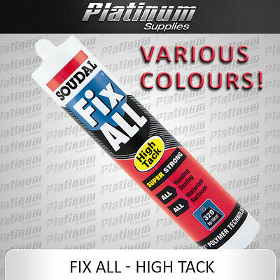 Soudal Fix All High Tack Sealant Adhesive Ms Polymer Super Strong Various Colour