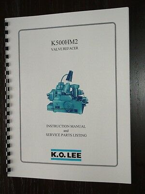 KO Lee K500HM2 Valve Grinder Manual