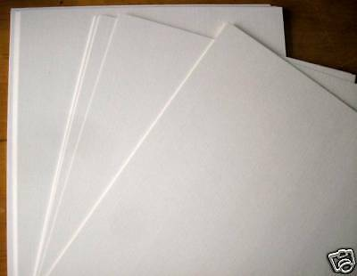 100 X A4 Smooth Thick White Decoupage Craft Card 250Gsm