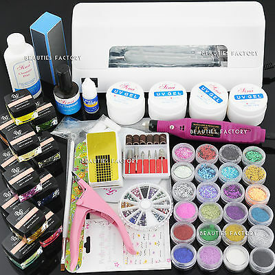 ALL-IN-ONE UV Gel Nail Art Curing Dryer Lamp Nail Drill 962