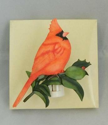 Marjolein Bastin Nature's Journey Cardinal Bird Night Light NIB 16945 HTF