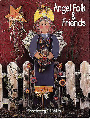 Angel Folk and Friends Tole Painting Book by Jill Botts