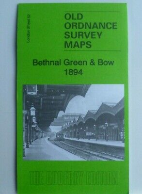 Old Ordnance Survey Maps Bethnal Green & Bow near Shoreditch London 1894 S52 New