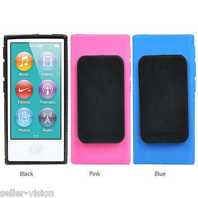 TPU Clip Gel Case for New Apple iPod Nano 7th Generation Belt Clip Cover Shell
