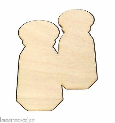 572639a78498 Salt & Pepper Shakers Unfinished Wood Shape Cut Out SP5270 Lindahl  Woodcrafts