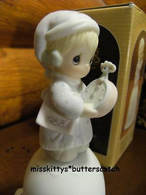 Precious Moments~BELL~Dated 1988~Time to Wish You A Merry Christmas~115304~MOUSE