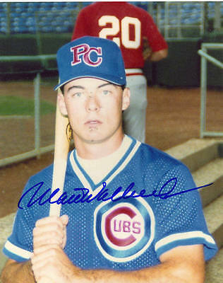 Matt Walbeck 1989 Peoria Chiefs Autographed Signed 8x10 Photo COA Chicago Cubs