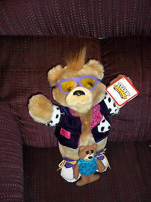 1990 Teddy Grahams Doll Figure & Vintage Sugar Bear Post Cereal Advertising Bear