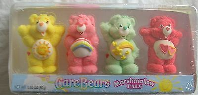 Set of 4 Care Bear Marshmallow Pals Unopened 2006