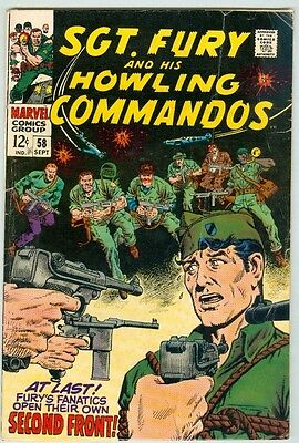 Sgt. Fury and his Howling Commandos #58 September 1968 VG